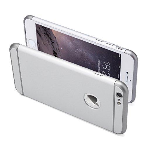 iPhone 6 Plus Hülle,3 in 1 Ultra Slim hart Hülle Anti- rutsch Matte Oberfläche Grenze für iPhone 6 Plus(5.5 '') und iPhone 6S Plus(5.5 '') Silber