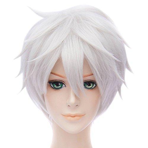 Anime Cosplay Partei Haar Volle Perücke Unisex Frauen / Männer Kurze Gerade Synthetische (Kurze Für Perücken Frauen)