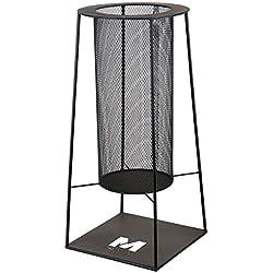 RM Design Brasero en métal pour terrasse/terrasse Noir 34 cm