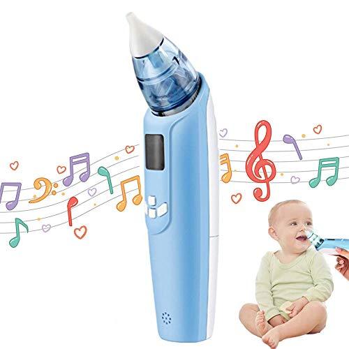 Mouché-Bébé Électrique, Lesgos Bébé aspirateur nasal avec musique réglable et 3 couleurs clignotantes, Aspiration Efficace du nez avec 3 niveaux d'aspiration pour les nourrissons et les tout-petits