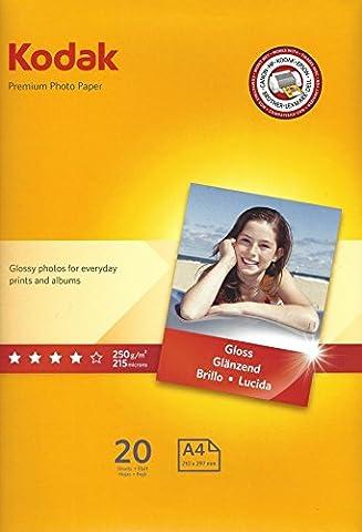 Kodak Premium Photo Paper A4 20 sheets 250g/m2 393-7729
