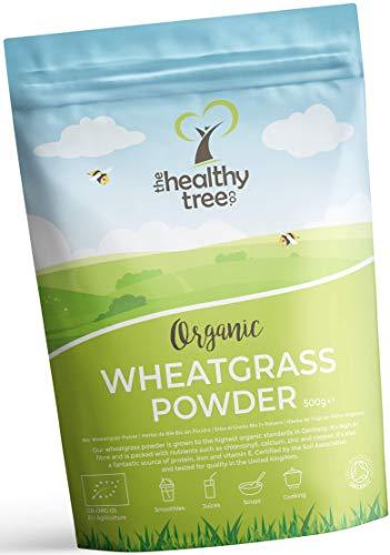 Bio Weizengras-Pulver aus Deutschland - reich an Proteinen, Ballaststoffen, Kalzium und Chlorophyll - ideal für grüne Superfood Säfte - Weizengraspulver bio von TheHealthyTree Company -