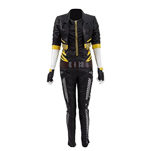 CosDaddy ® Cosplay Canary Dinah Damen (XS, (Black Canary Kostüm)