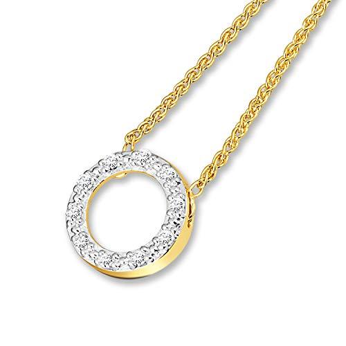 Diamond Line Damen - Ring 585er Gold 1 Diamant, weißgold