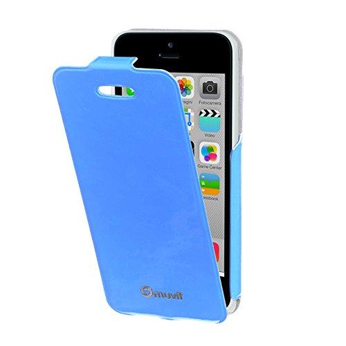 Muvit MUIFL3604 muvit iPhone 5C iFlip Case Yellow hellblau