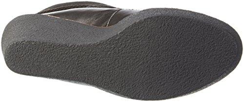 Buffalo London - 415-1814 Silk Lea Cow Suede, Stivali a metà gamba con imbottitura pesante Donna Nero (nero (black 01))