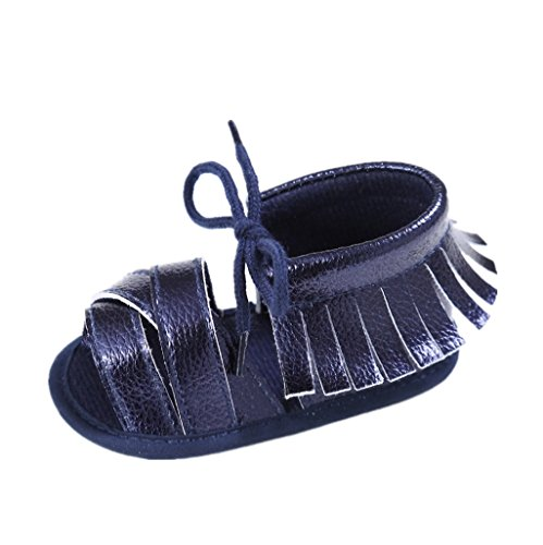 Chaussures de bébé Auxma Chaussures d'été bébé Princesse Chaussures Des sandales (3-6 M, Noir) Bleu