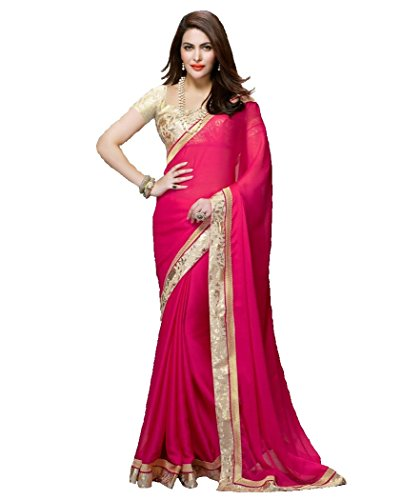 Indian Beauty Pink Color Art Georgette Saree with blouse
