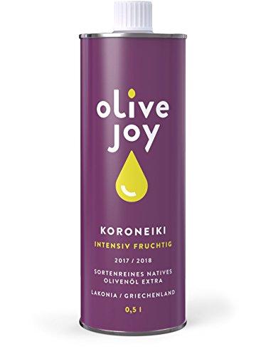 Nativ Extra Olivenöl von olive joy | Aus 100% griechischen KORONEIKI Oliven | Intensiv Fruchtig | 0,5l Olivenoel Flasche | Clean Eating geeignet