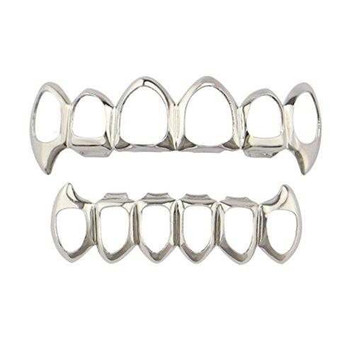 Türkei 1Hip Hop Zähne Grillz, abnehmbares Gitter Oben & Unten Dental Mund Zähne Grills Set Gold/Silber/Schwarz/Rose Gold