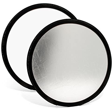 Reflecteur Pliable - igadgitz 30cm 2 en 1 Réflecteur de