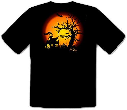 f Grusel Kostüm Fun T-Shirt -124 (M) (Hot Biker-halloween-kostüm)