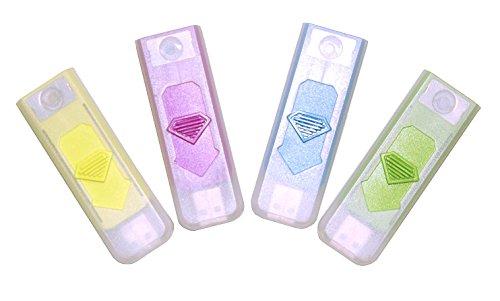 Unbekannt USB Gadget Feuerzeug Zigarettenanzünder Zigaretten Anzünder Glühspirale Elektrisch Wiederaufladbar Versch. Farben wählbar (Rosa)