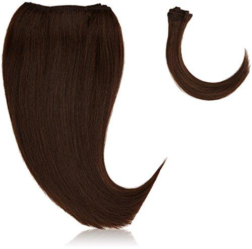 chear Silky Yaki Straight veri capelli umani estensione con Premium Tessuto misto, numero 4, Marrone (Di Yaki Dei Capelli Umani Weave)
