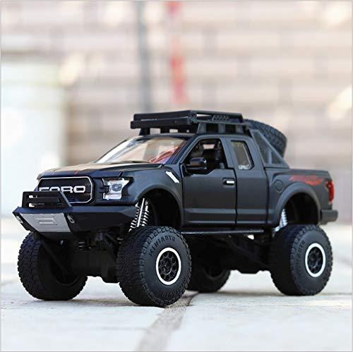 o Spielzeug-Geländewagen, F150 Modell Alloy Simulation Big Wheeler 4 Farben erhältlich (Farbe : D) ()