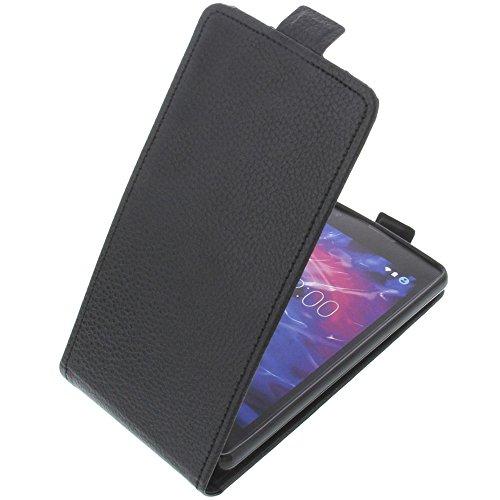 foto-kontor Tasche für MEDION Life E5020 Smartphone Flipstyle Schutz Hülle schwarz
