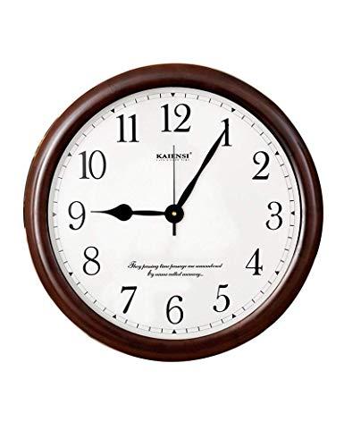 CWJ Uhr- Wanduhr Metall Einfache Persönlichkeit Ruhig 20 Zoll Rund Vintage Holz Kunst Modern Digital Runde Uhr Europäische Retro Holz Wohnzimmer Wand Dekoration Artwork -