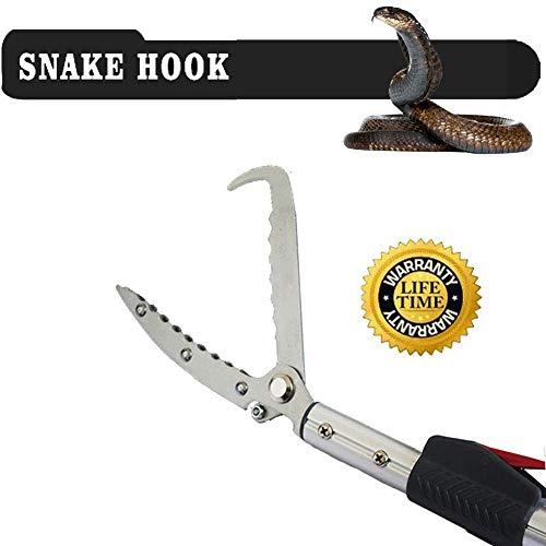PqzⓇ 150cm snake tong reptile grabber stick catcher ratch catcher professionale ampliabile strumento di gestione della mascella (include borsa)