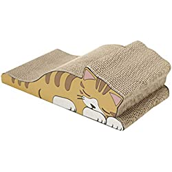 Rascador Curvo para Gatos de Carton Impresa Camas Sofás