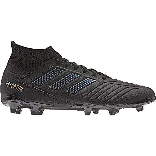 adidas Herren Predator 19.3 FG Fußballschuhe, Schwarz Core Black/Gold Met, 43 1/3 EU