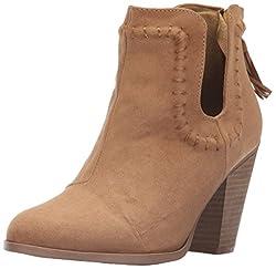 Qupid Womens Nixon-10x Boot, Camel, 8 M US