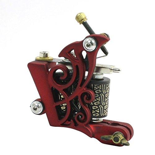 Secant Tool 2 Spulen Swirl förmigen Eisen Linear tattoo gun Maschine Red - Eisen-swirl
