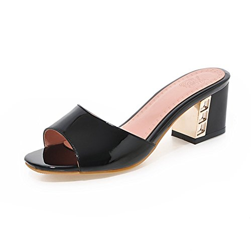 Estate-coreano versione di pantofole chunky tacchi parola/Dolce principessa scarpe C