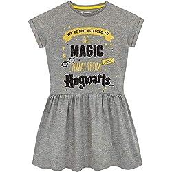 Harry Potter Abito Ragazze Hogwarts Grigio 9-10 Anni