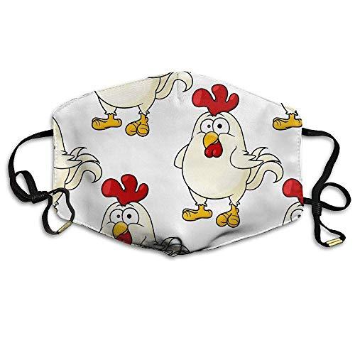 Cute Little Fat Cartoon Chicken Unisex Facemask Ear-loop Anti-dust Mask Cycling Reusable Mask