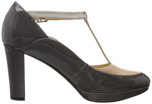 Clarks Kendra Daisy, Chaussures T-shirt Pour Femme Gris (combi Gris Foncé)