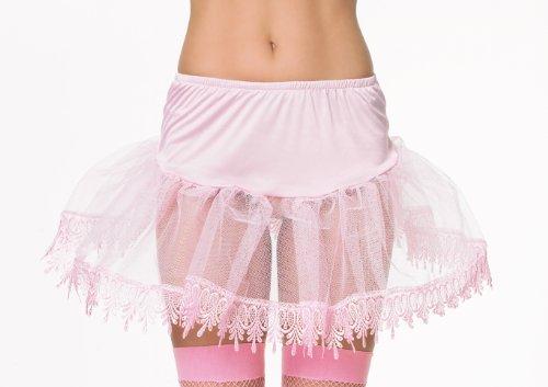 Leg Avenue 8999S - Petticoat mit Speciale Spitzen Bund, Einheitsgröße, rosa