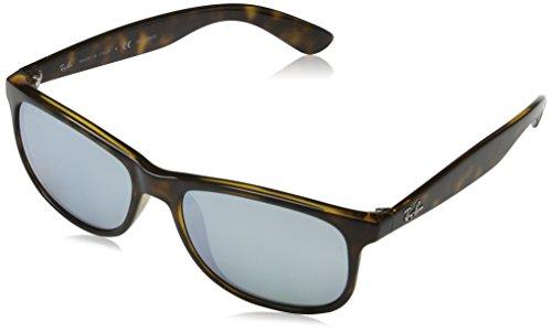 Rayban Herren Sonnenbrille Andy Mehrfarbig (Gestell: havana,Gläser: blau polarisiert 710/Y4) Medium (Herstellergröße: 55)