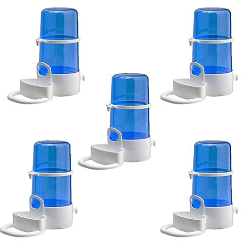 Pet Ting Weekend Drinker, Feeder Blue 400Ml - With perch and sliding door (Pack of 12)
