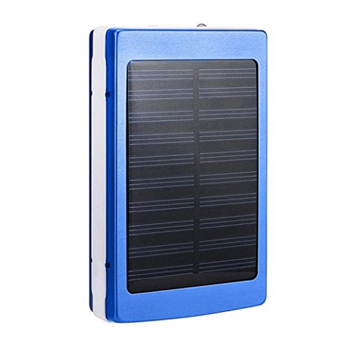 samLIKE Solar LED Portable Dual USB Energienbank 5x18650 Externes Ladegerät DIY Box Fall (Blau) (Iphone 6 Solar-fall)