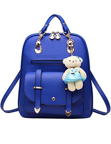 Menschwear PU Zaino Satchel Daypack sacchetto di scuola Rosa Cielo Blu