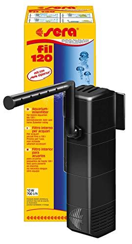 Sera 06844Fil 120Filtro Interior de Acuario (700L/h para acuarios hasta 120l) en módulo Unidad de construcción con Filtro (con Esponja, Carbón Activo y siporax Mini)
