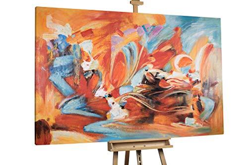 'Flammenmeer' 180x120cm | Abstrakt Feuer Rot XXL | Modernes Kunst Ölbild