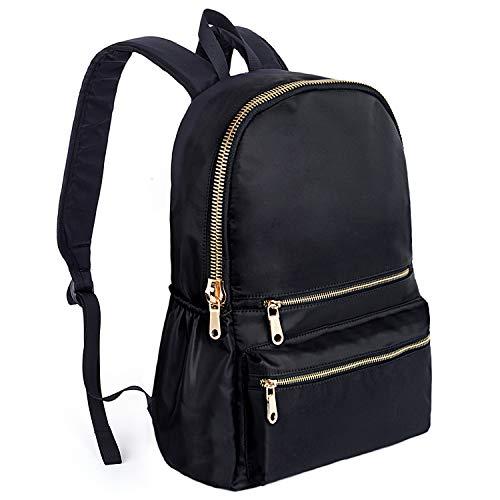 AKTUALISIERTE Version UTO Mode Rucksack Wasserdichte Nylon Schule College Bookbag Schulter Schwarz - Gefütterte Nylon-rucksack