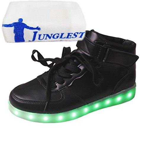 [Present:kleines Handtuch]JUNGLEST® Schwarz Schädel 7 Farbe Unisex LED-Beleuchtung Blink c37