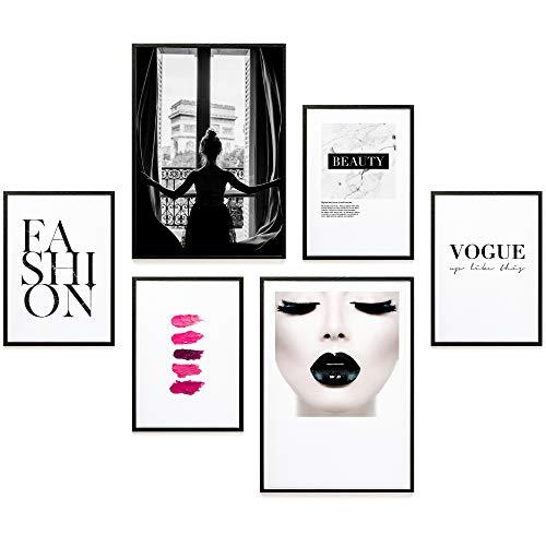 Heimlich® Premium Poster Set | Stilvoller Mix an passenden Bildern für Dein Zuhause | ohne Rahmen » Paris Fashion «