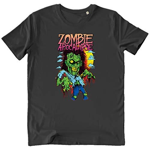Pushertees-Store - T-Shirt Herren Anthracite - Zombie Apocalypse -