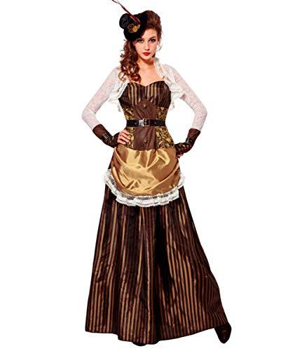 Horror-Shop Viktorianisches Steampunk Kleid | für Damen L