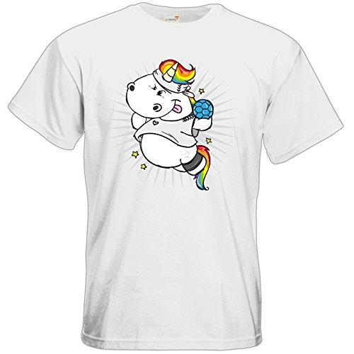 getshirts - Pummeleinhorn - T-Shirt - Handball White