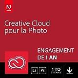 Adobe Creative Cloud Photographie 1 To: Photoshop + Lightroom | 1 an | PC/Mac |...