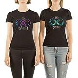 VivaMake® Pack 2 Camisetas de Mujer Originales para Mejores Amigas con Diseño To Infinity and Beyond