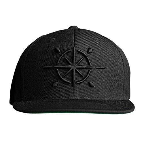 MARQUE NOIRE – BLACK COMPASS Snapback - Cap, Baseball Caps, Herren Damen Unisex (Brad Rüstung)
