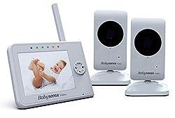 "720P Funk Babyfone 5"" LCD Pan//Tilt Video Audio 1000ft Range Temperature Alarm"