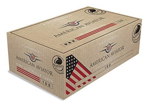 American Aviator King Size Filterhülsen, biologisch abbaubar, 100 Hülsen pro Box 25 Boxen (2500 Hülsen) - American Filter