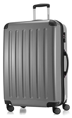 Hauptstadtkoffer - Hartschale Koffer Trolley Serie Alex 119 l silber hochglanz + 20,- Reisegutschein