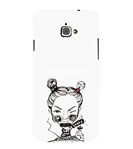 EPICCASE Sassy girl Mobile Back Case Cover For InFocus M350 (Designer Case)